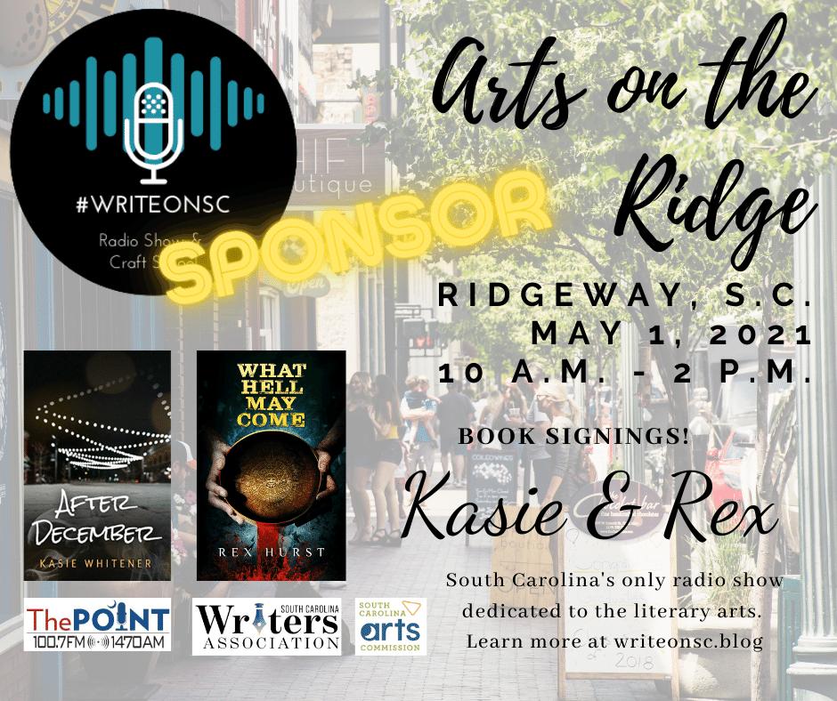 Arts on the Ridge Write On SC Facebook Post